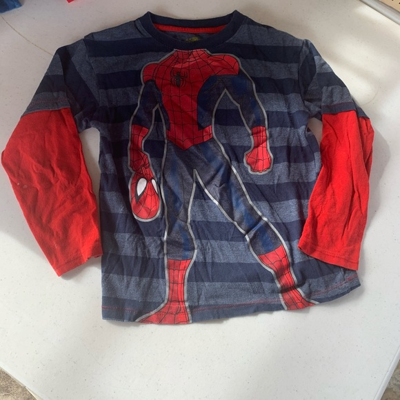 5 shirts Boys size small/5t/ long sleeve LOT of 5